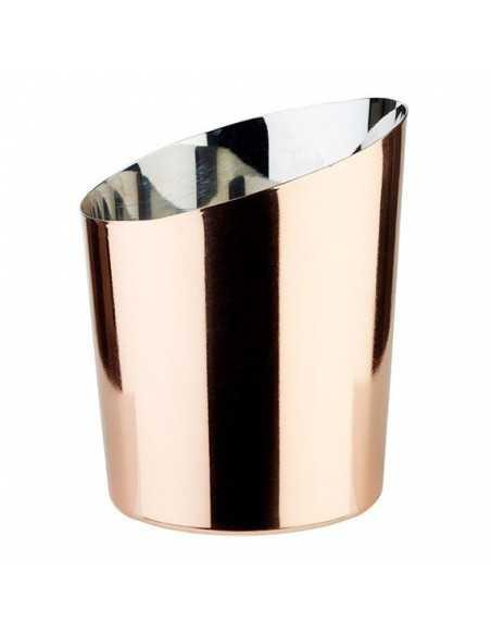 Vasito inox exterior cobre ø9,5 x 8,5 / 11,5 - 0,45 L (1 Ud) Precio ud 7,19€