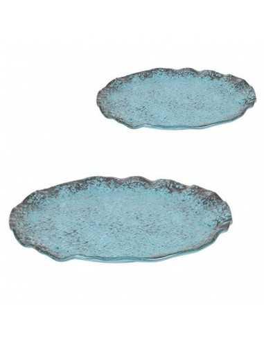 Plato turquesa redondo ø28x2 cm (4 Uds) Precio ud 20,57€