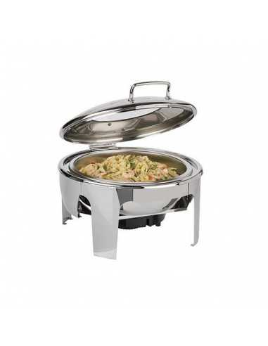 Chafing Dish redondo easy induction Inox 6L.