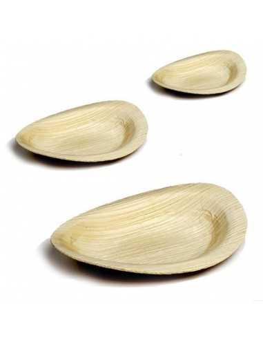 Mini Plato oval hojas de palmera Bali 9x6 cm (400 Uds) Precio ud 0,52€