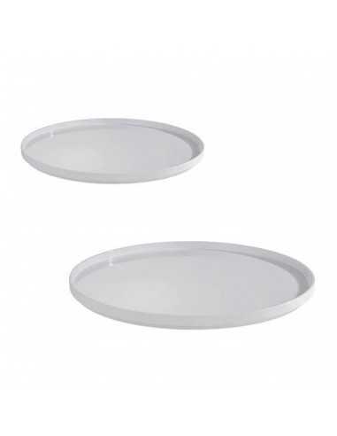 Bandeja de melamina ASIA PLUS en color blanco con un diámetro de ø 48.5 cm.