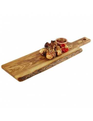 Tabla para servir de madera de olivo con medidas de 40 x 15 cm.