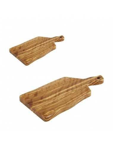 Tabla para servir de madera de olivo con medidas de 19 x 12.5 x 1.5 cm.