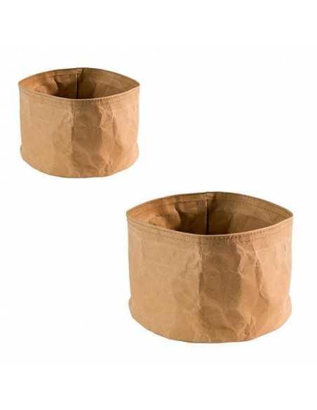 Panera Paperbag en color beige y medidas de ø17 x 11 cm.
