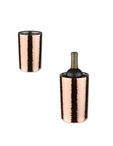 Enfria botellas de acero inoxidable y cobre con medidas de ø12/10 20 cm.