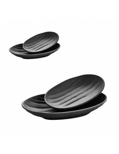 Bandeja ELIPS TERRA en color negro y una medidas de 23 cm x 14.5 x 4 cm.
