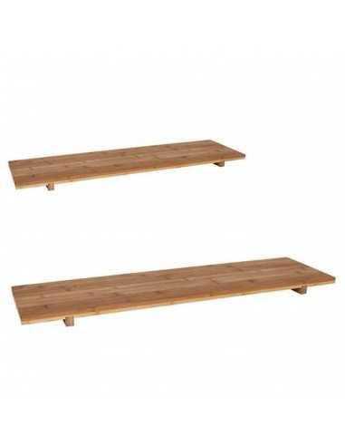 Bandeja de bambú con medidas de 70x20x3 cm.