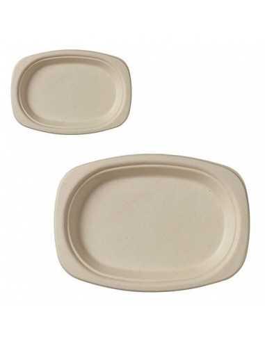Plato ovalado biodegradable caña de...