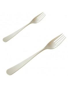 Tenedor large biodegradable almidón de maíz PLA blanco 18,5 cm (1000 Uds)