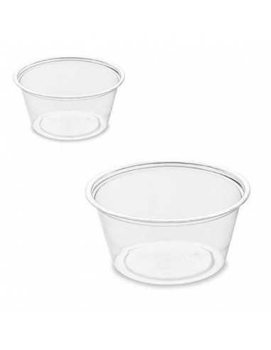 Tarrina biodegradable plástico RPET transparente 6,4 x 6,4 x 3 cm 60 ml (2500 Uds)