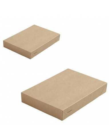 Tapa biodegradable sin ventana para caja de cartón kraft (300 Uds)