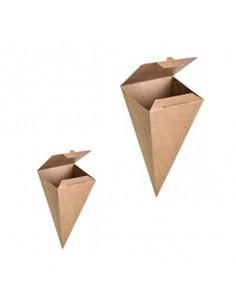 Cono con cierre cartón kraft 9 x 9 x 19 cm (400 Uds)