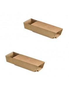 Tapa biodegradable para barquilla para alimentos cartón kraft 21 x 10 x 5 cm (500 Uds)