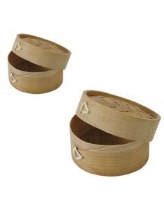 Vaporera, recipiente de bambú para cocinar al vapor ø7 x 5 cm 88ml (200 Uds) Precio ud 2,18€