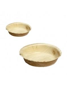 Bowl redondo Bali de hoja de palma ø12 x 3 cm (200 Uds) Precio ud 0,53€