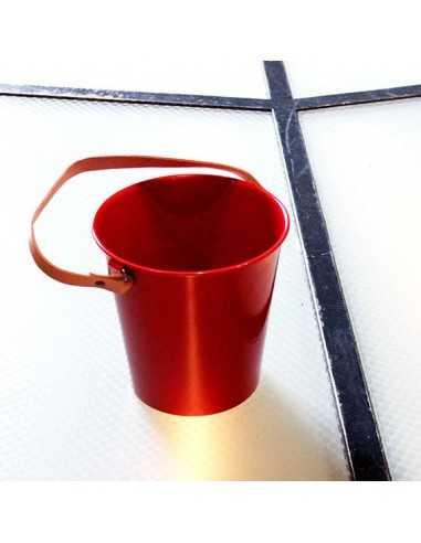 Champanera acero inox con asa de cuero. Varios colores (1 Ud)