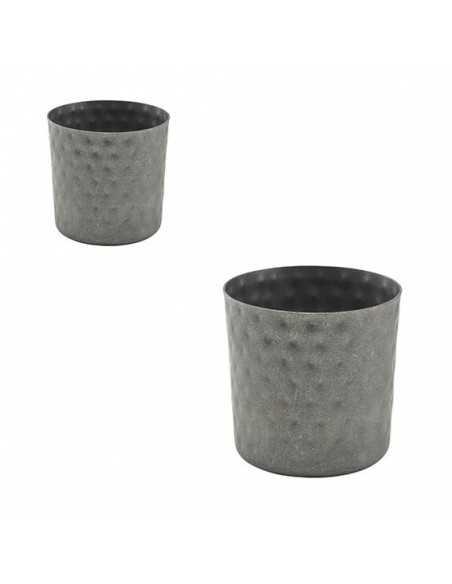 Vaso martilleado de acero inox vintage 8,5 x 8,5 cm 40 cl (1 Ud) Precio 8,06€