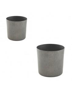 Vaso liso de acero inox vintage 8,5 x 8,5 cm 42 cl (1 Ud) Precio 11,62€