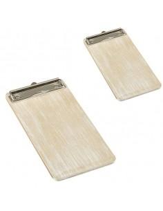 Portamenú de madera blanco vintage. Varias medidas (1 Ud) Precio desde 14,21€