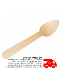 Cuchara de madera biodegradable 11 cm (100 Uds) Precio ud 0,04€
