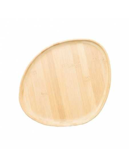 Bandeja de bambú Jomon 8 cavidades 44x20x1 cm (1 Ud)