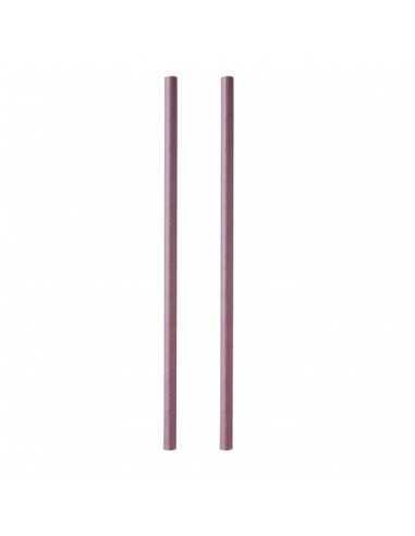Pajita de papel color ciruela ø 0,8 x 23 cm (3.600 Uds) Precio ud 0,05€