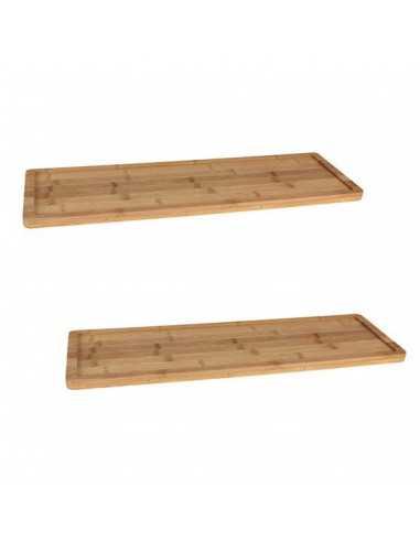 Bandeja de bambú GN2/4 - 53x16,2x1,5 cm (8 Uds) Precio 12,1€/Ud