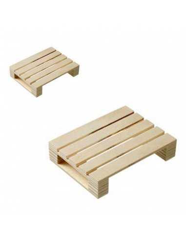 Mini palé de madera 6x8x1,7 cm (10 Uds) Precio ud 1,64€
