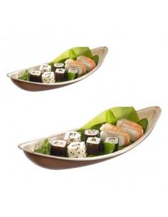 Plato barca Areca de hoja de palma 13x30,1x5,7 cm (100 Uds) Precio ud 1,40€