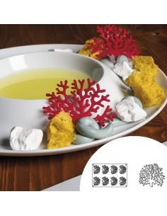 Molde de silicona en forma de coral 30x20 cm 8 cavidades (1 Ud) Precio 22,50€