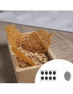 Molde de silicona en forma de hoja 30x20 cm 8 cavidades (1 Ud) Precio 22,50€