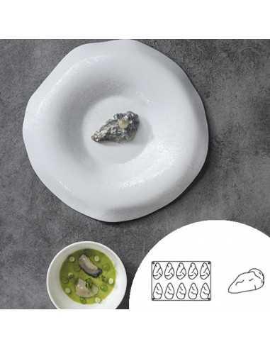 Molde de silicona en forma de ostra 30x20 cm 10 cavidades (1 Ud) Precio 22,50€