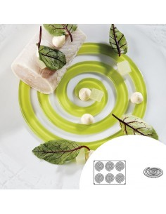 Molde de silicona en forma de espiral redonda 40x30 cm 6 cavidades (1 Ud) Precio 43,26€