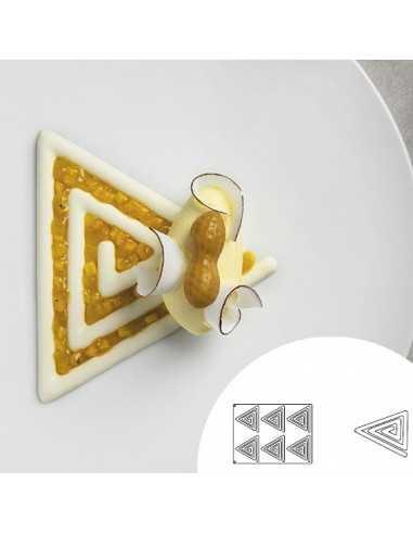 Molde de silicona en forma de espiral triángulo 40x30 cm 6 cavidades (1 Ud) Precio 43,26€
