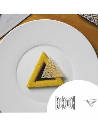 Molde de silicona en forma de triángulo 40x30 cm 9 cavidades (1 Ud) Precio 43,26€