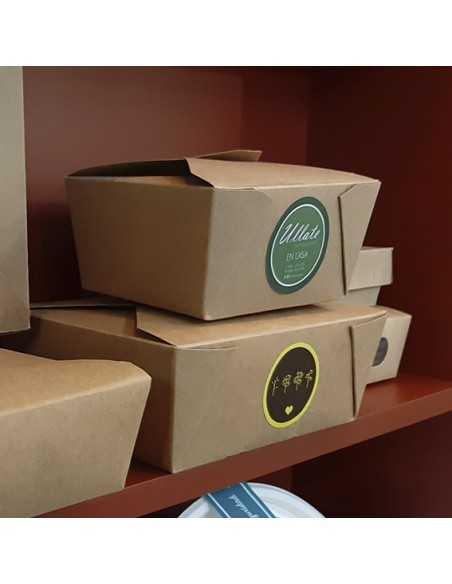 Pegatinas para personalizar cajas de transporte de comida
