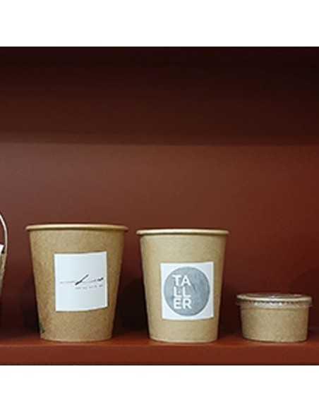 Pegatina cuadrada para personalizar envases de comida para llevar