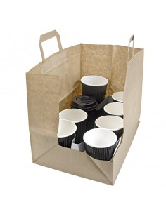 Bolsa de papel kraft para catering
