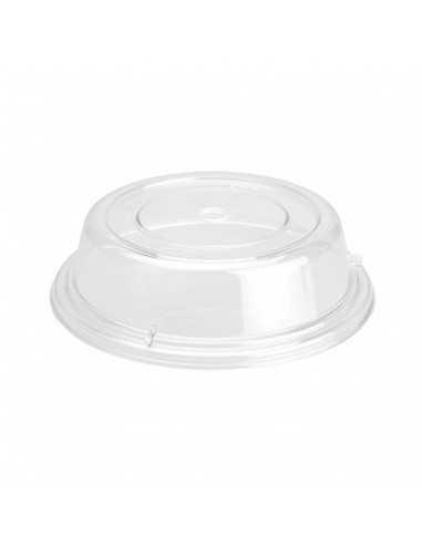 Campana cubreplatos redonda de policarbonato