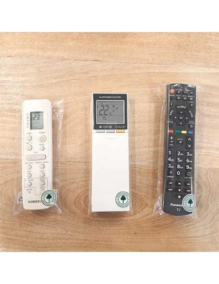 Bolsa biodegradable para guardar el mando de la tele o del aire acondicionado