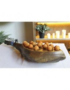 Bandeja en forma de pata de jamón