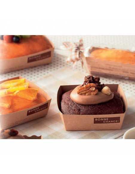 Bandeja de cartón kraft nature para horno y uso en catering y buffet