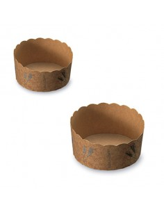 Mini molde baking cup trigo en papel para horno 6,5x3,5 cm (2400 Uds) Precio 0,24€/Ud