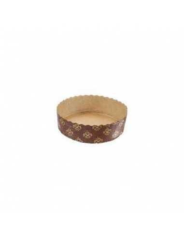 Molde redondo retractilado marrón de papel horneable