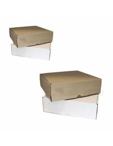 Caja de cartón kraft/blanco...