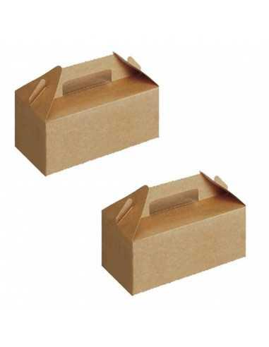 Caja de cartón kraft para picnic con cierre de solapas