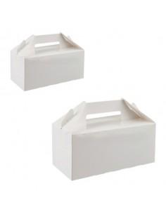 Caja de cartón blanca para...