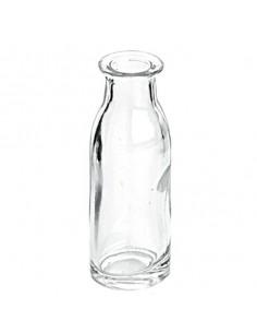 Mini botella cristal leche vintage 9 cm. (36 Ud)
