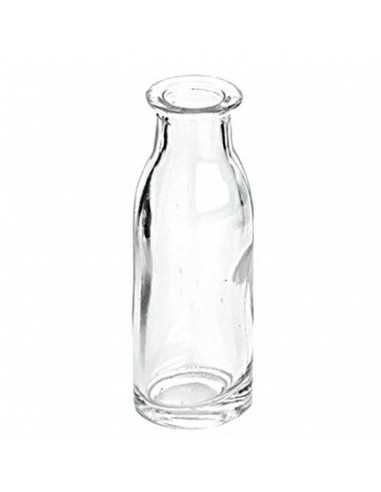 Mini botella cristal leche vintage 9...