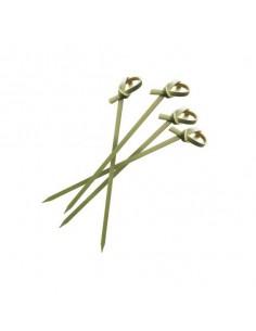 Brocheta de bambú lazo